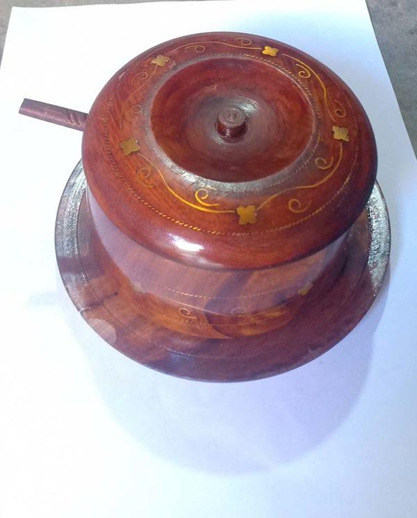 Wooden sugar Pot
